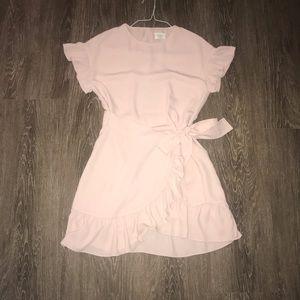 Wilfred XXS light pink wrap dress